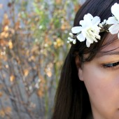 Creamy White Flower Hair Wreath