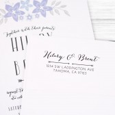 Custom formal calligraphy return address stamp