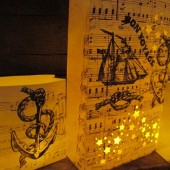Bon Voyage Themed Wedding Luminaries