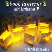 Mini Book Page Lanterns, Book Wedding, Love Story, Book Lovers, Book Luminary Bags
