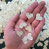 Book Heart Confetti, Table Decor, Weddings, Wedding Decor