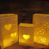 Book Luminary Bags, Book Theme Wedding Decor