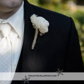 ivory and tan boutonniere