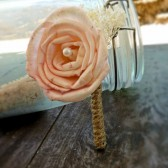 Blush Rose Boutonniere- Made to Order Groom, Groomsmen, Sola Flower, Wedding, Wedding Flowers, Shabby Chic Wedding, Rustic Wedding