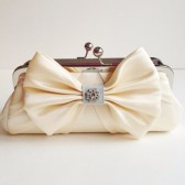 Bow Beautiful Bridal Clutch - Ivory