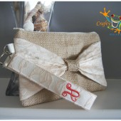 Bow Wristlet with Keyfob