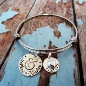 Wedding Date Ampersand Bracelet