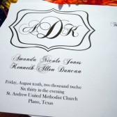 Bracket Monogram Wedding Program