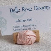 Wine Cork Place Card Holder with rosette