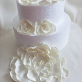 Satin Flower Cake Topper