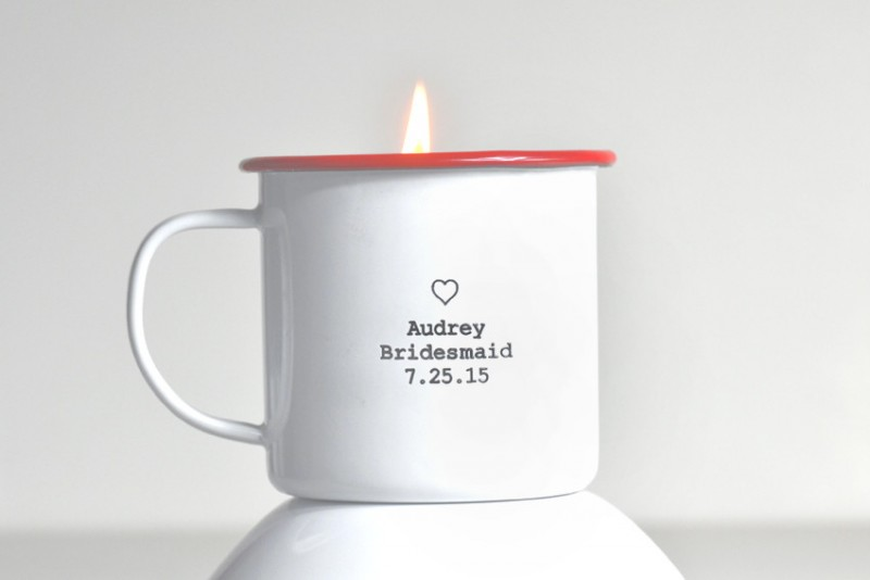 bridal party candle mug