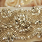 heirloom crystal bridal sash