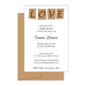 Bridal Shower Invite: Love Notes