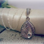 Faceted Crystal Bridal Necklace