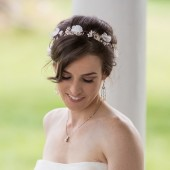 Babys breath flower crown for rustic and barn wedding