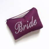 plum bride cosmetic bag