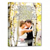 Wedding keepsake custom canvas art