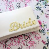 Bride wedding day clutch purse