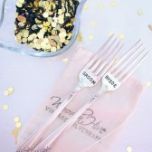 Vintage Silverware Bride Groom Sweetheart Dinner Cake Forks