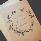 Daisy Wreath Bridesmaid Card