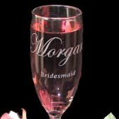 Personalized Champagne Glasses, Bridesmaids Gifts