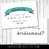 Will You Be My Bridesmaid, personalized banner card