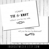 Tie the Knot Bridesmaid Card