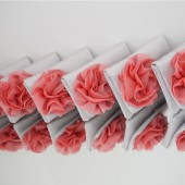 Custom made bridesmaids clutches