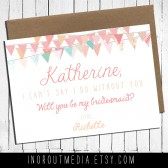 Bunting Will You Be My Bridesmaid card