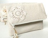Oatmeal Bridesmaids clutch