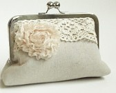 Shabby Chic bridal clutch