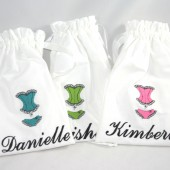 Monogrammed Bridesmaids Gifts Lingerie Bag Wedding, Bridal Shower Gift or Bridesmaids Gifts