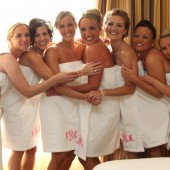 Fancy Monogram Bridesmaids Velour Spa Wrap