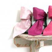 silk bow envelope clutch