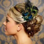Bridget - Jade Green Peacock Bridal Fascinator