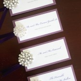 Brooch Seating Cards