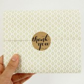 Brown Kraft Thank You Stickers