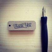Mini Brown Kraft Thank You Tags