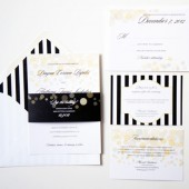 Champagne Bubbles Wedding Invitations