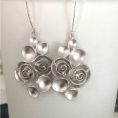 bridal sterling silver earrings