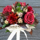 burgundy rose woodland bridesmaid 1