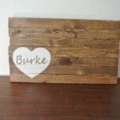 Personalized Wood sign guest book