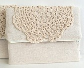 Country chic bridal clutch