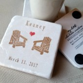 Personalized Rustic Drink Coasters