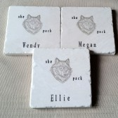 She Wolf Pack Personalized Coasters