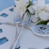 Vintage Silverware Personalized Cake Server and Dessert Forks