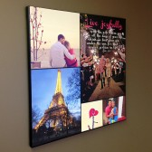 canvas collage with your photos and words