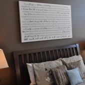 Over the Bed Word Canvas
