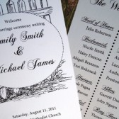 Rustic Carolina Chic Wedding Program