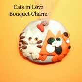 Wedding Decoration, Wedding Keepsake, Cat Lover Gift, Wedding Bouquet Charm, Bride Gift, Bridal Gift, Pet Bouquet Charm, Keepsake Charm, Whimsical Bouquet Charm, Cat Bouquet Charm
